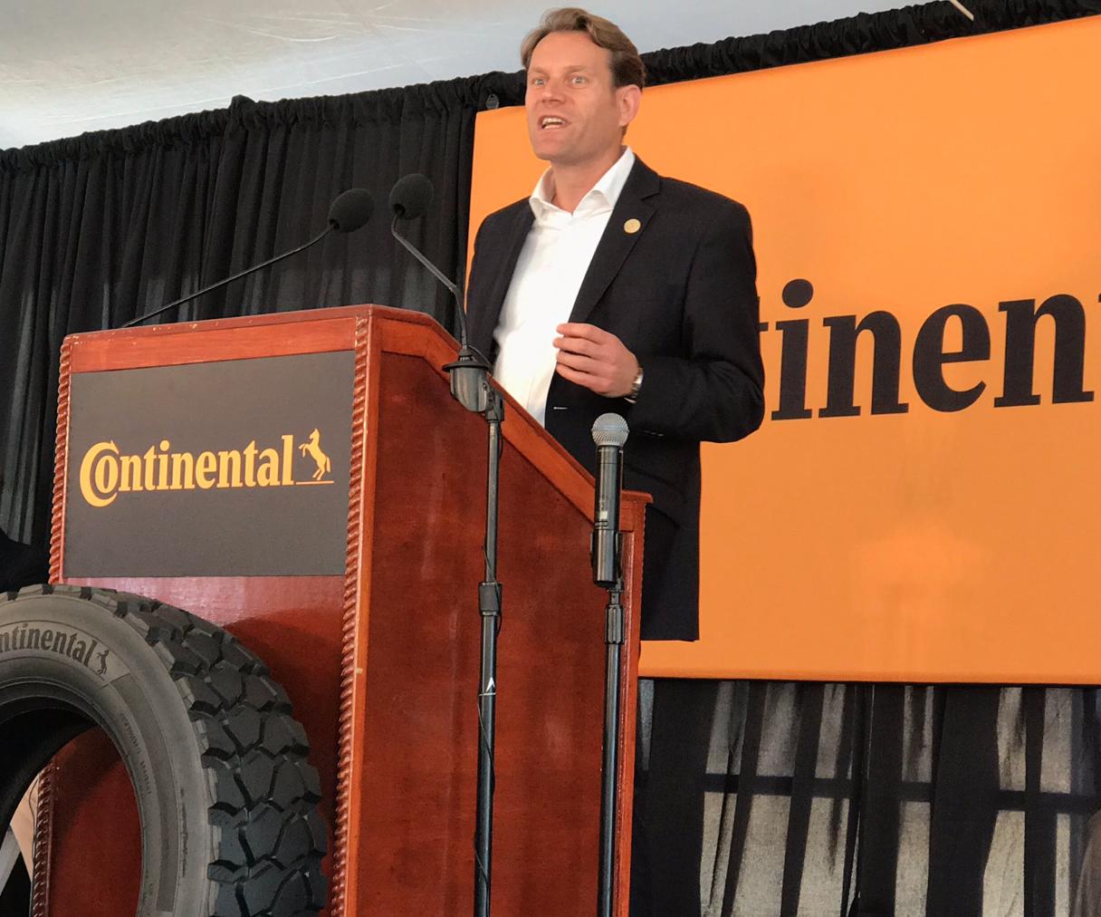 Continental Tire Breaks Ground On 1 4 Billion Truck Tire Plant In