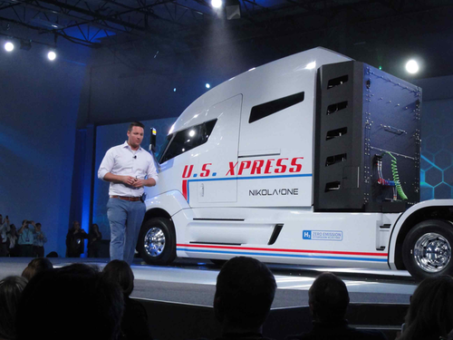 Trevor Milton, founder of Nikola Motor Company, unveiled the Nikola One at company headquarters in Salt Lake City