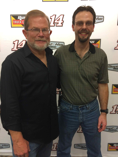 Luke Manlief, right, with Rusty Rush, CEO of Rush Enterprises.