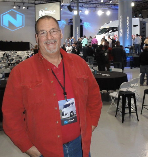 Matthew Hurley, an owner operator, looks forward to owning a Nikola One when the first production models will be ready in about three years.