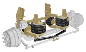 Ridewell rss 2361000 self-steer auxiliary truck suspension