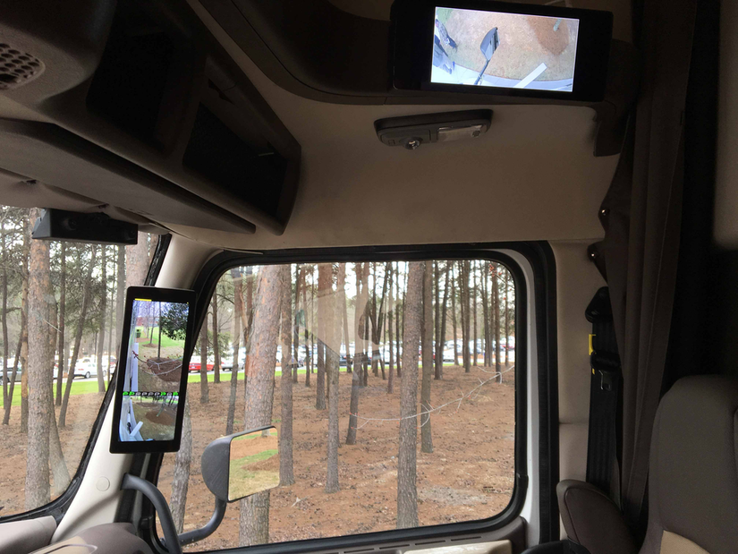 Inside cab view Volvo's SuperTruck