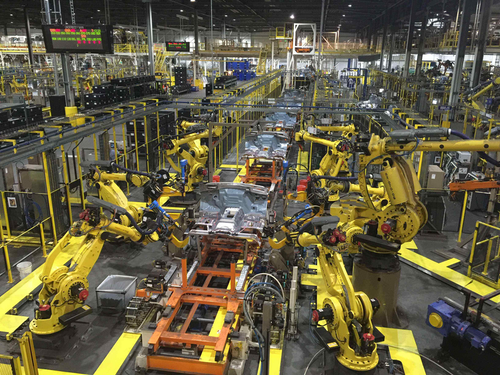 While much of the assembly process at Ford's Kansas City Assembly plant is automated, the company employs approximately 8,000 workers there.