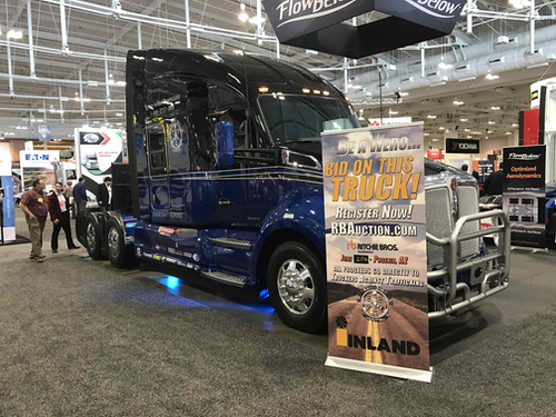 Kenworth 'Everyday Heroes' truck displayed at truck show