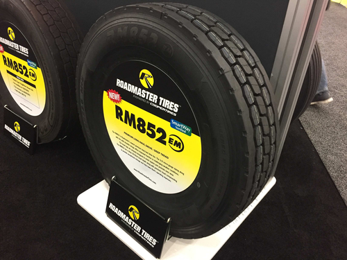 New Roadmaster long haul drive tires unveiled at MATS
