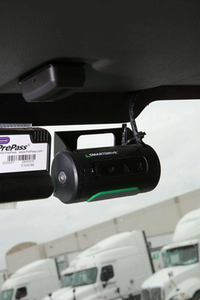 SmartDrive Video Camera Installed in Truck Driver Cab