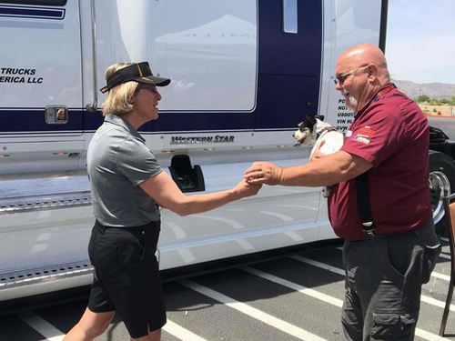 Western Star donates 'Spirit Truck' to OOIDA