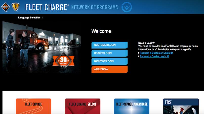 Navistar's Fleet Charge program