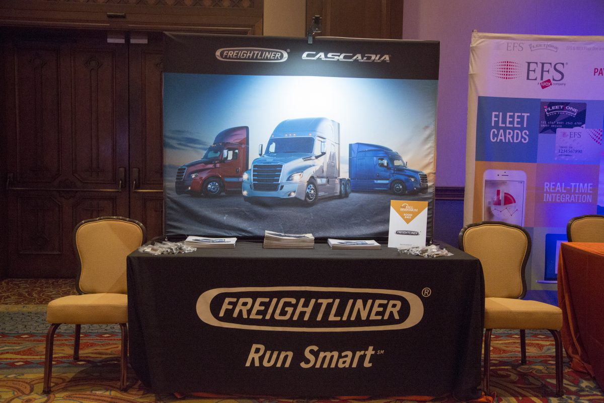 Freightliner booth at CCJ Symposium