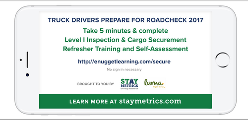 Stay Metrics gives free online CVSA Roadcheck training for cargo securement