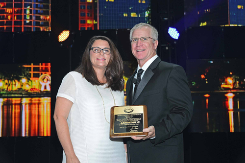 Lacey Crosson-Cornelius recognized as the top safety officer for 2016 by Landstar