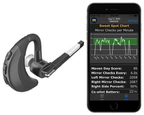 Maven Co-Pilot Smart Bluetooth headset