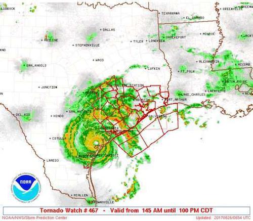 Tornado watch map