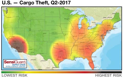 Cargo Theft Heat Map