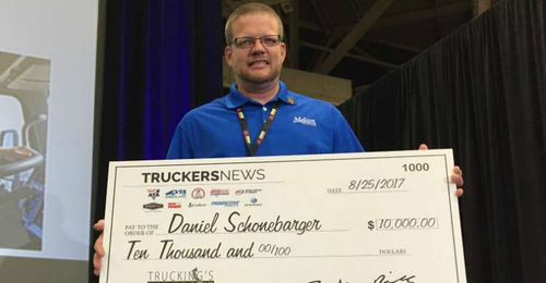 Melton driver named Trucking's Top Rookie, takes home $10,000 prize