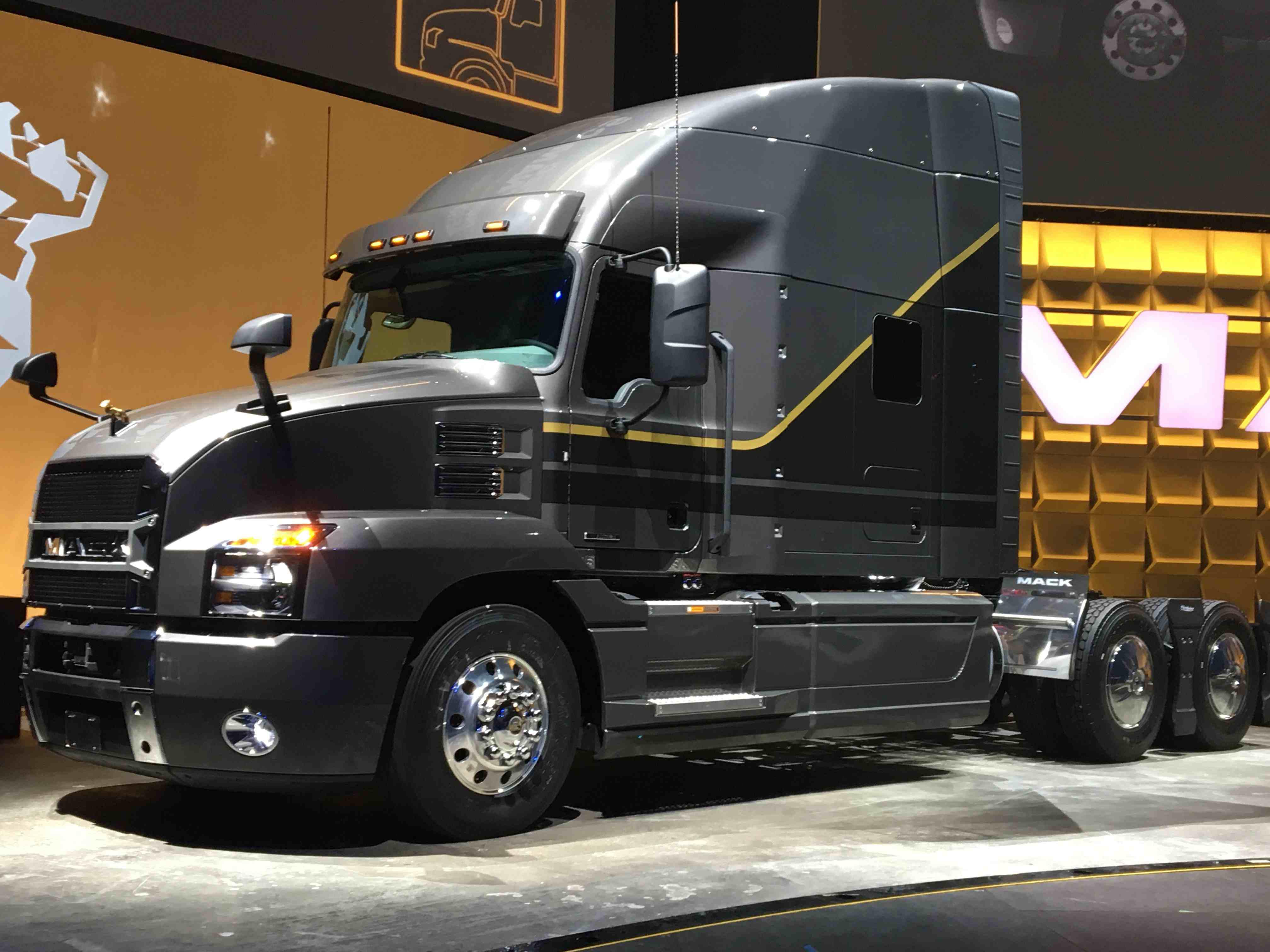 Mack Truck on Display Room Floor