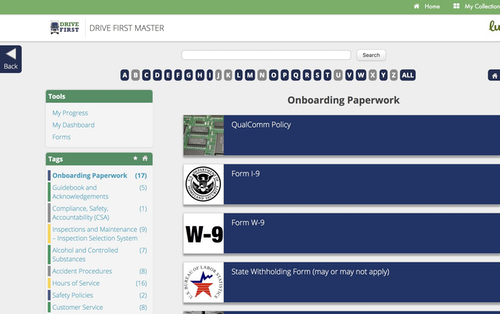 Onboarding First Master screen view