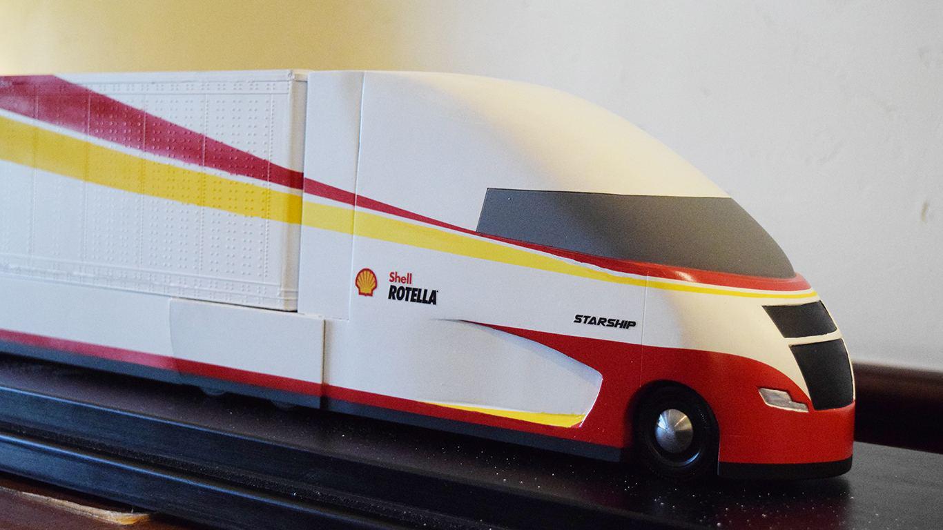 Shell Rotella Unveils Futuristic Tractor Trailer Concept