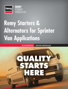 Remy Power Products alternator part numbers Sprinter van applications