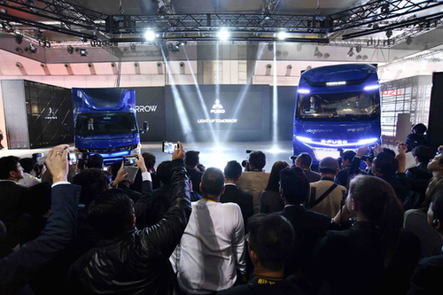 E-FUSO trucks at Tokyo Motor Show
