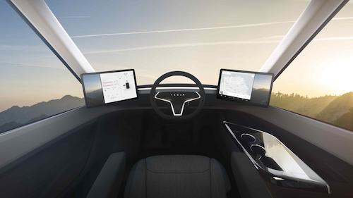 Interior of Tesla Truck
