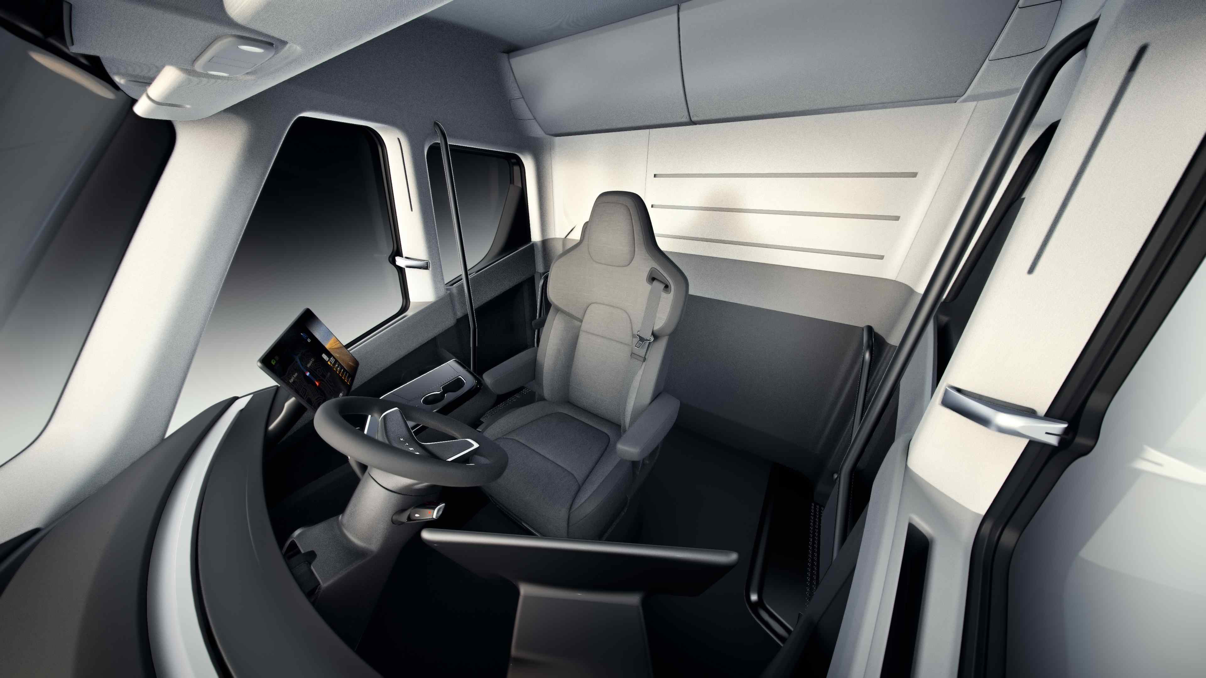 Interior of Tesla Semi-Truck