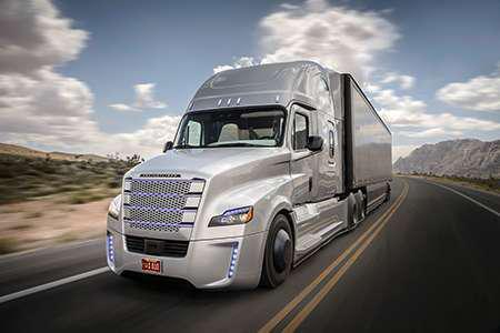 Freightliner semi-autonomous Inspiration concept truck