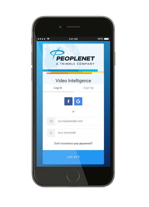 PeopleNet mobile app on an iPhone