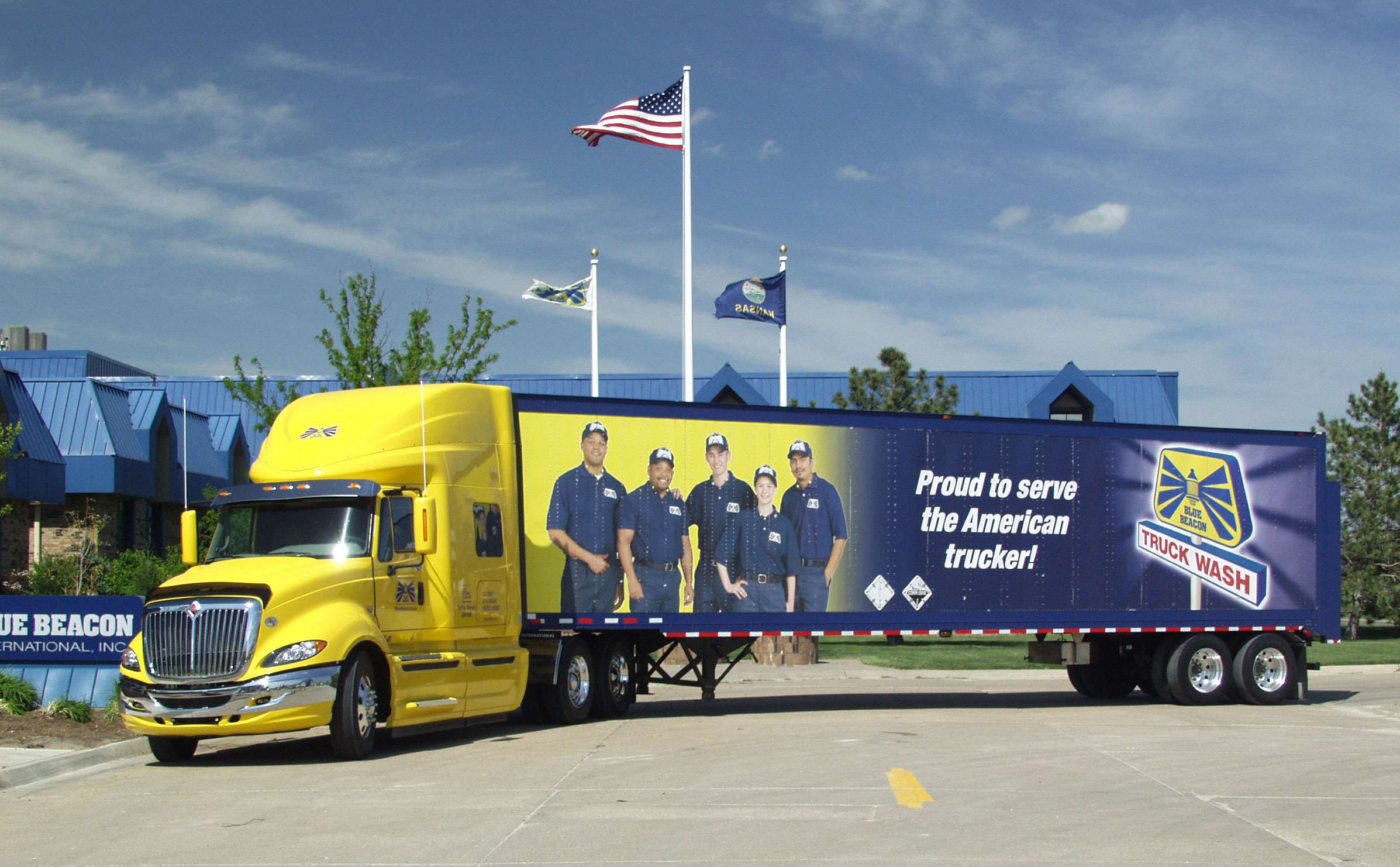 Truck Wash Graphics on Trailer