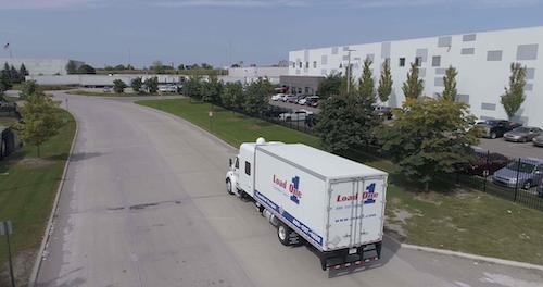 Semi-Truck Delivering Load