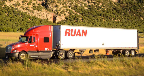 Ruan Transportation semi truck
