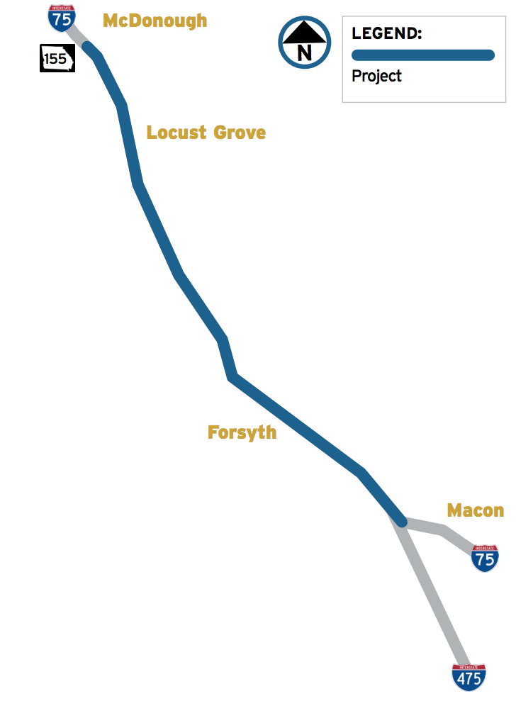 Map Of 75 South In Georgia.Georgia Plans To Add Trucks Only Lanes On I 75 South Of Atl