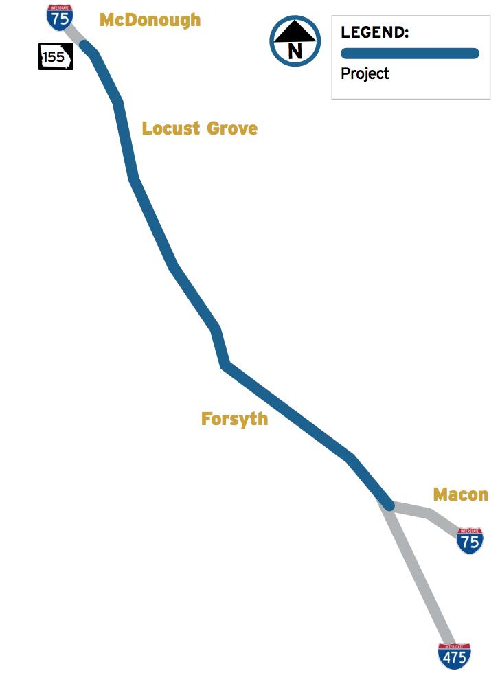 Georgia Road Map