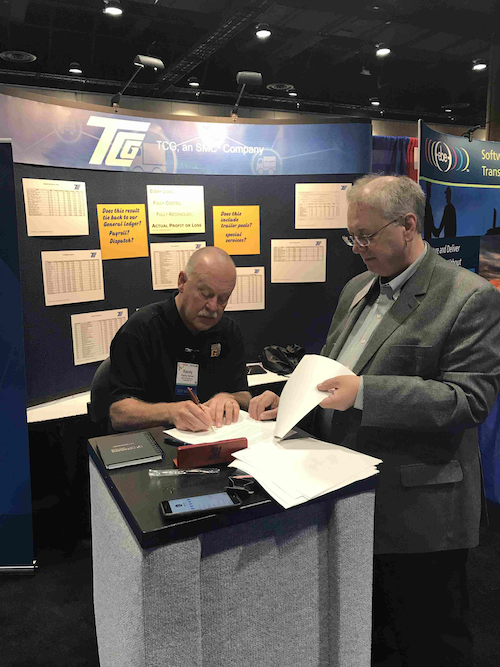 Big G Express Enters Contract With TCG Driver Wins K - Conference table signs