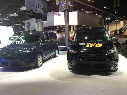 Ford Transit Connect Cargo Van works the crowd at NTEA show