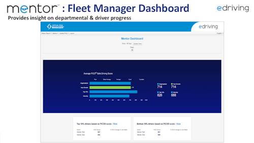 Mentor: Fleet Management Dashboard and Departmental & Driver Progress