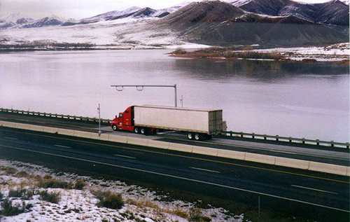 Semi-Truck on Highway