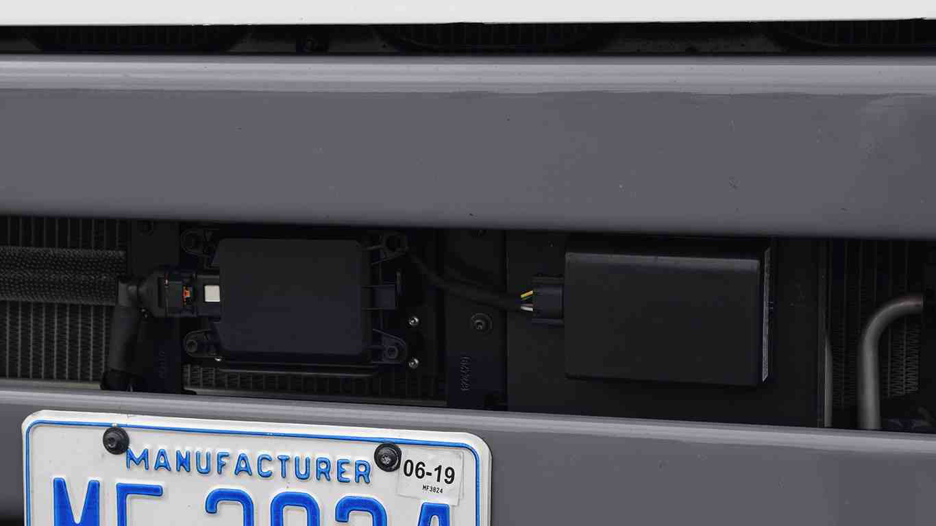 Transponders on the Bumper of a Semi-Truck