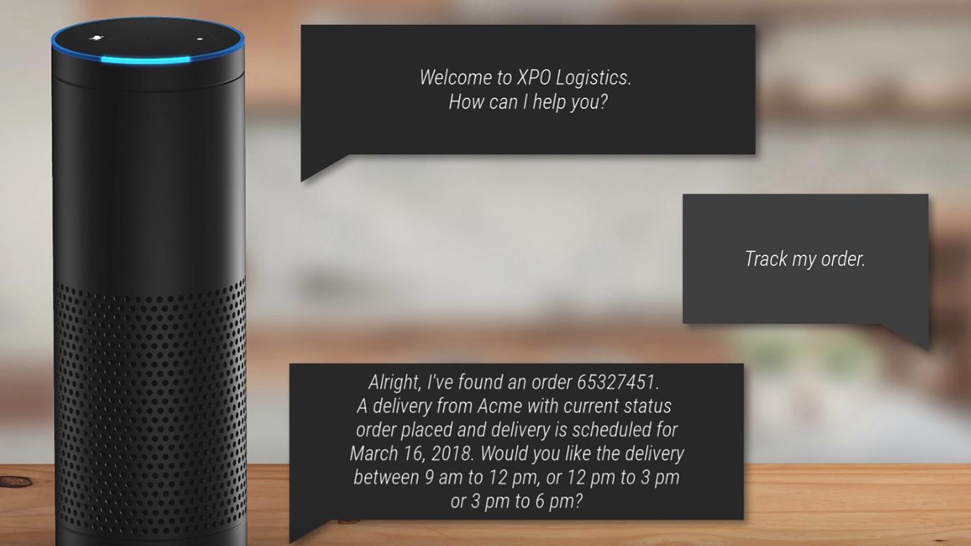 Amazon Alexa tXPO Logistics app talking