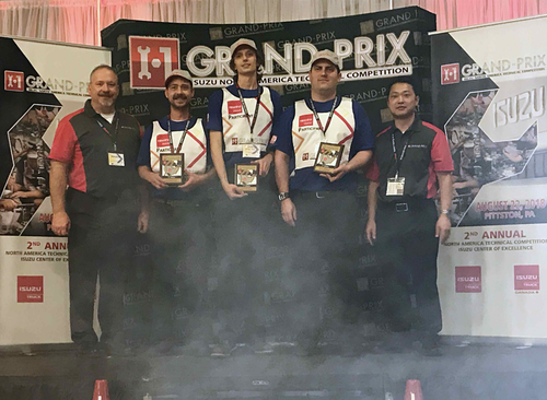 Techs who will represent U.S. in the company?s global I-1 Grand-Prix tech competition