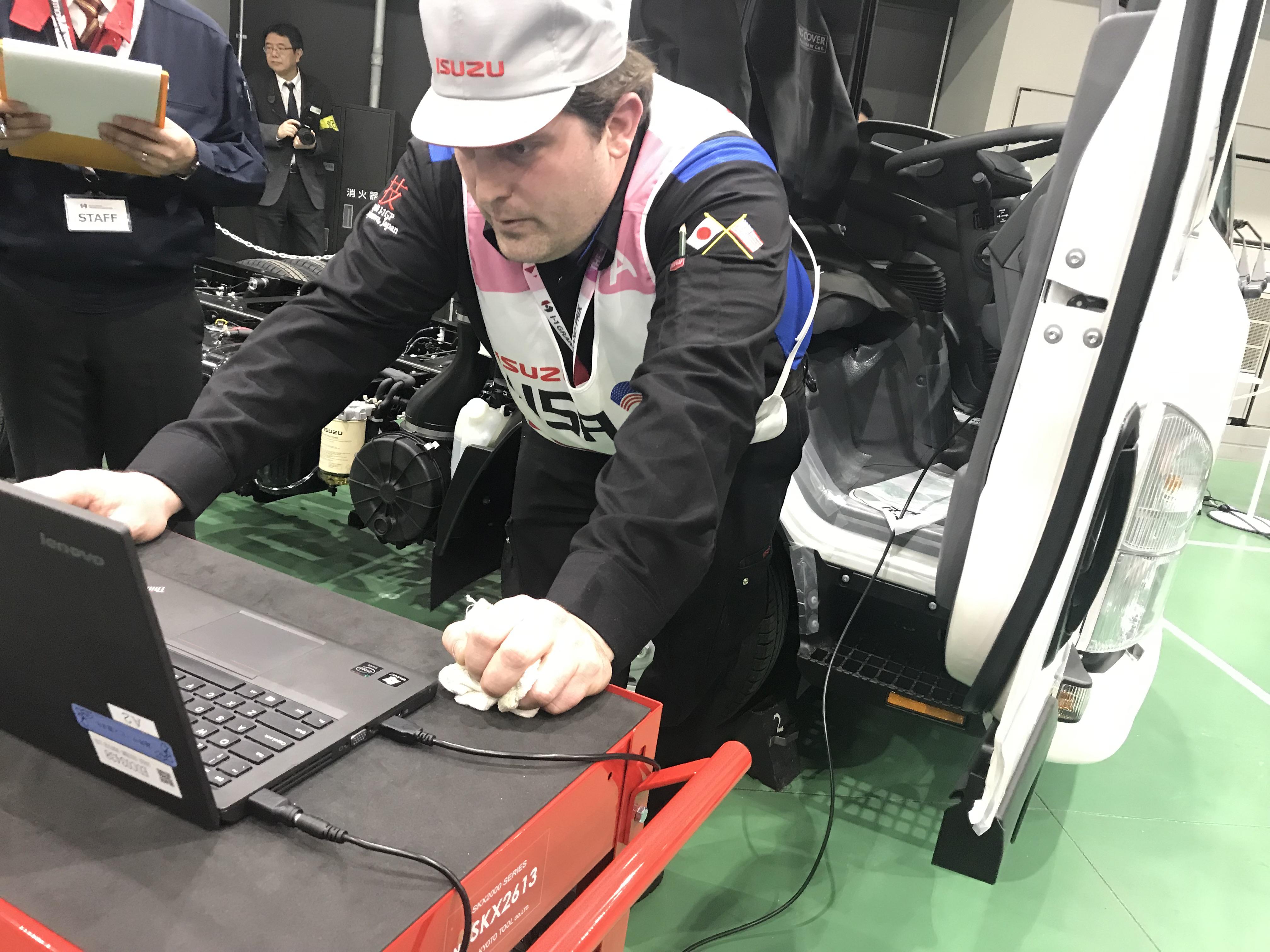 Team USA takes 2nd place in Isuzu technician challenge