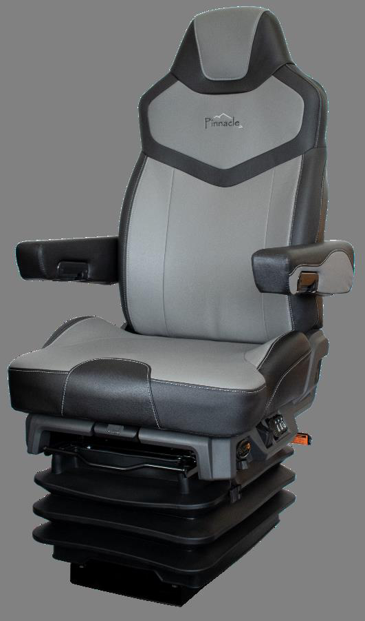 seats inc  covers features of its new pinnacle truck seat