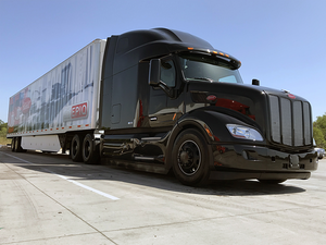 Behind the wheel of Freightliner's Inspiration autonomous truck