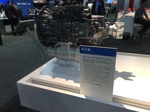 Eaton 48-volt mild hybrid system on display