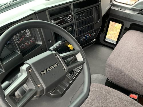 Inside cabin of the new Mack Trucks' medium-duty truck