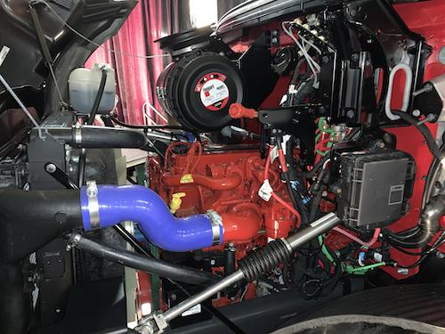 Cummins B6.7 engine in a Mack Trucks' medium-duty truck