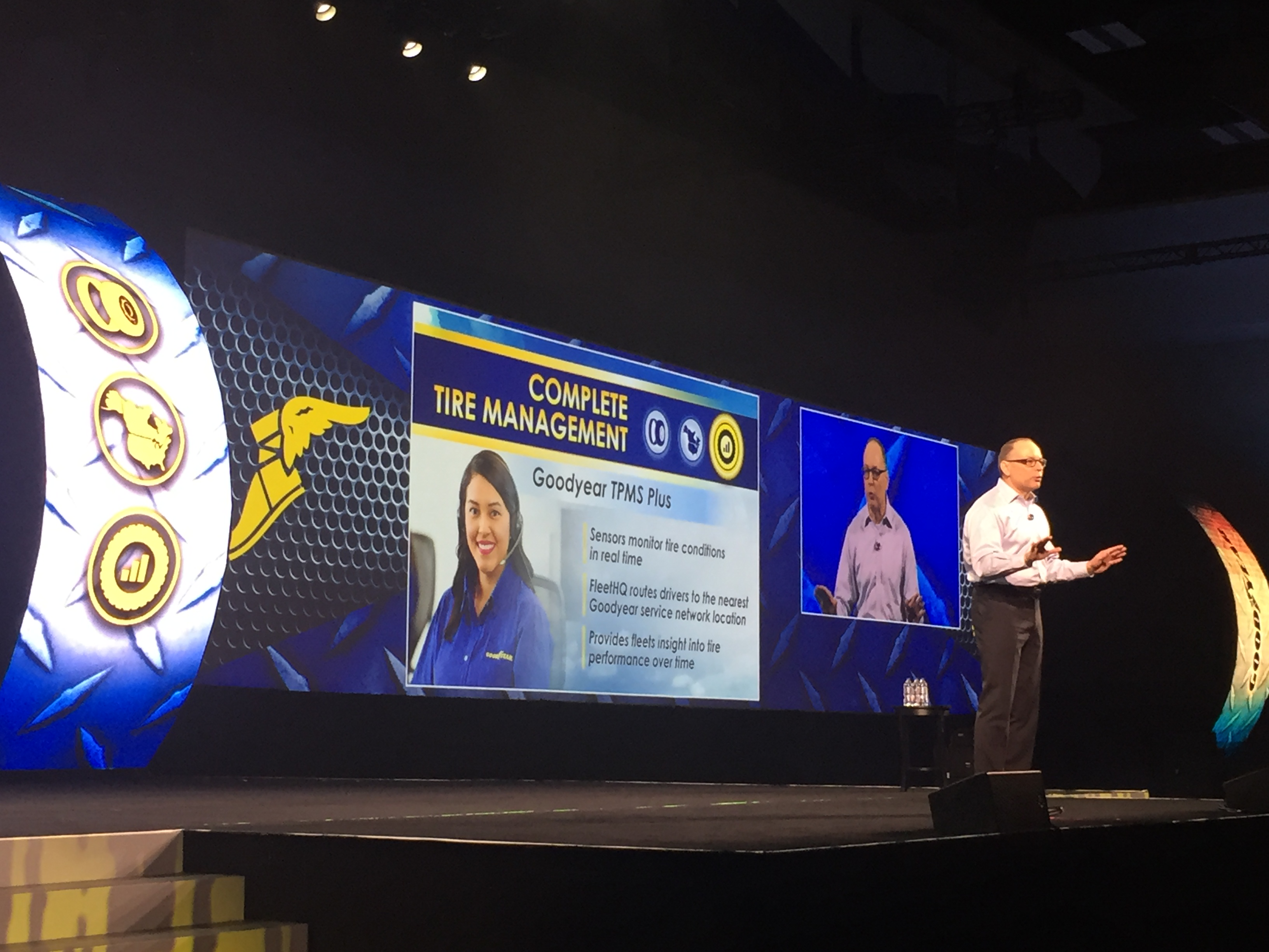 Dave Beasley, vice-president of commercial tires at Goodyear