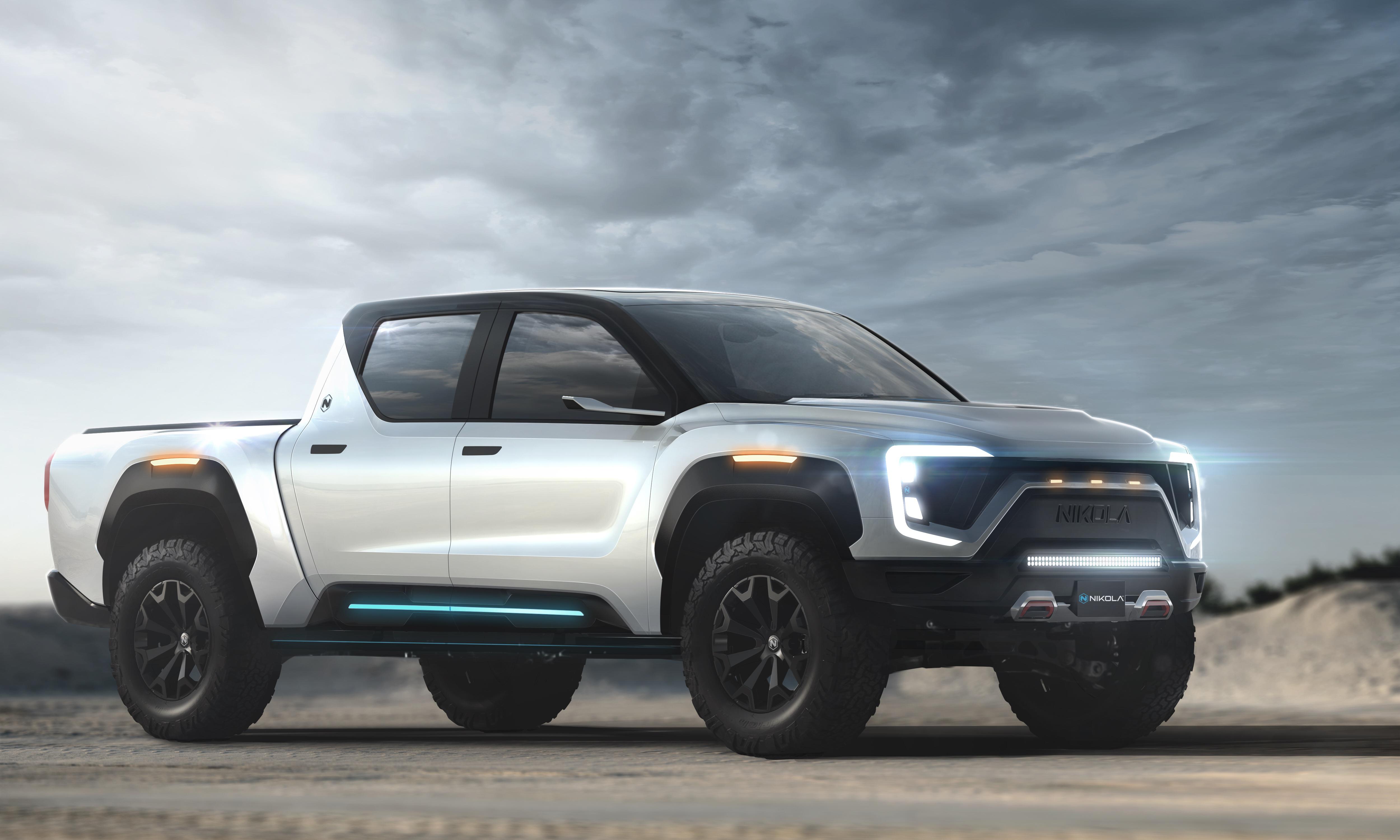 New electric pickup truck from Nikola touts 600-mile range