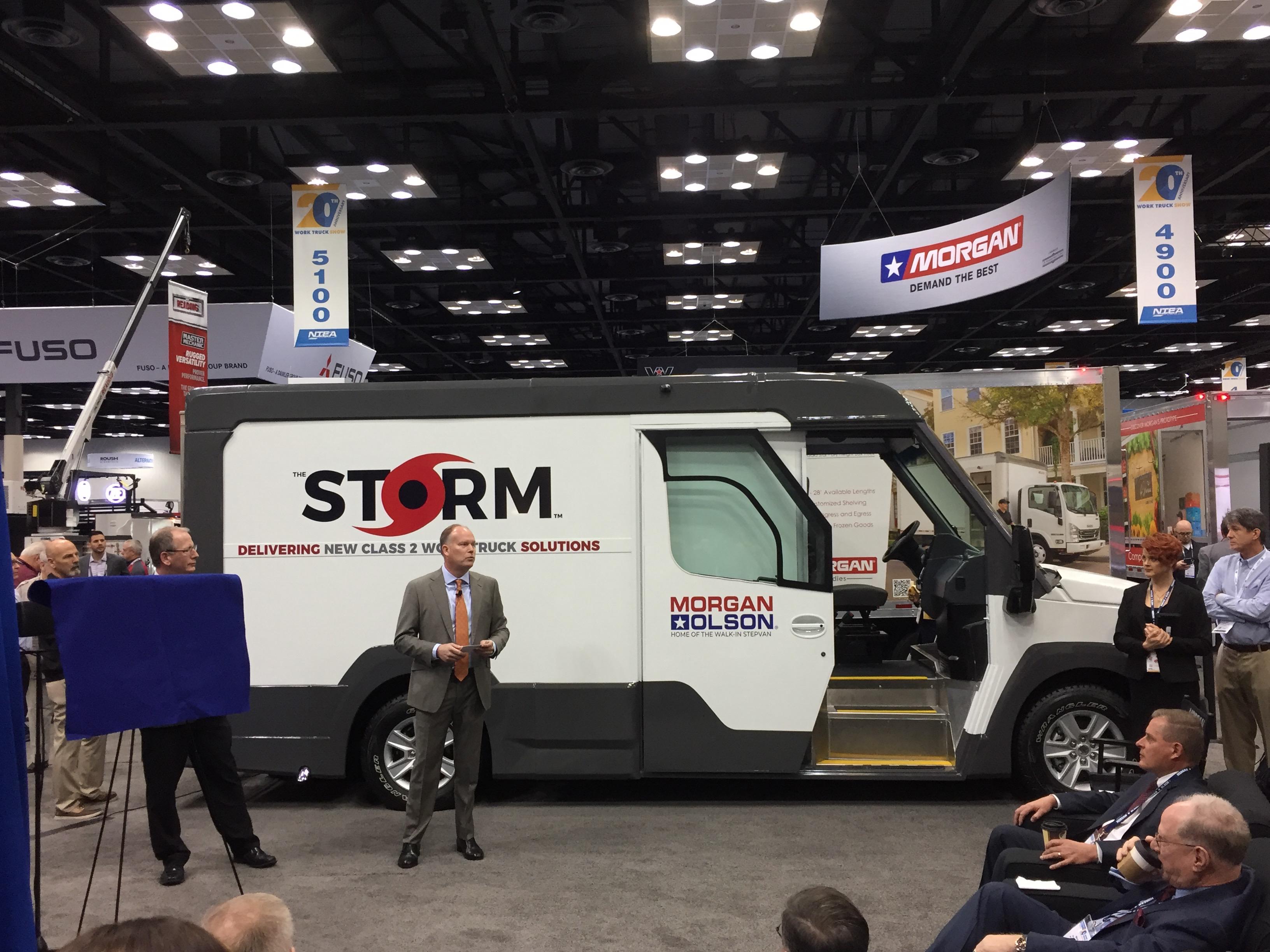 Morgan Olson gas-fueled step van