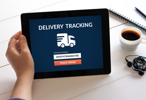 Delivery tracking on a tablet